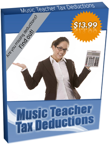 Learn the Secrets to Music Teacher Tax Deductions